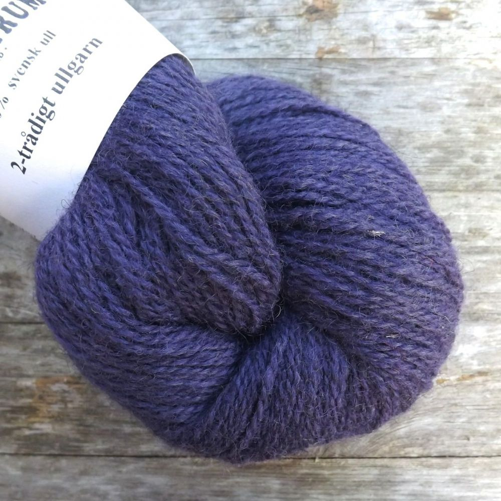 Ullcentrum 2ply Solid - Blueberry